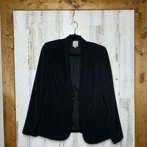 Halogen black blazer size medium open front blazer